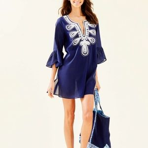 Lilly Pulitzer Piet cover up true navy